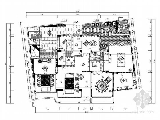 [深圳]四层别墅中欧混搭风格装修图(含效果图)