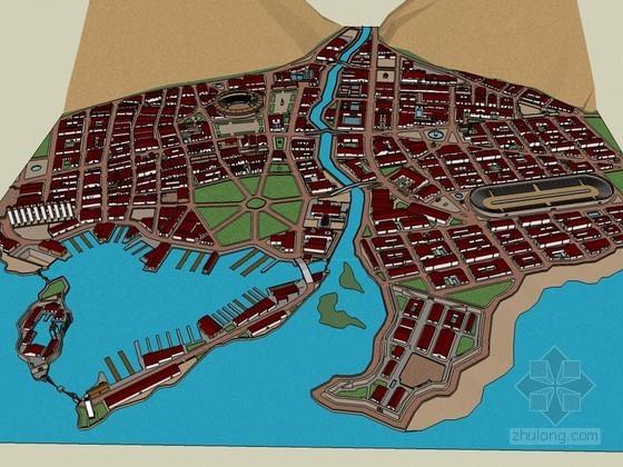 住宅区SketchUp模型下载-住宅区