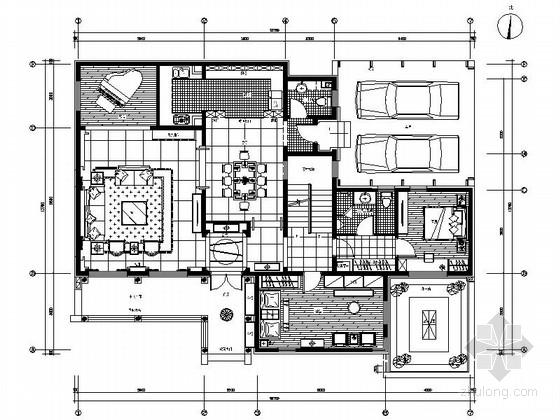 [北京]独立住宅浓郁中式风格双层别墅装修图(含方案)