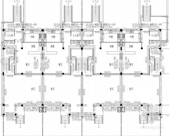 别墅建筑散热器采暖系统设计施工图(半地下室)