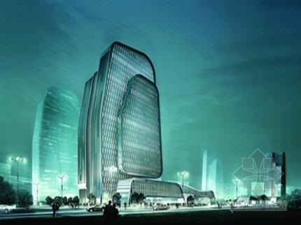 [江苏]23层局部型钢混凝土斜柱框架核心筒结构商务酒店结构施工图(含建施)