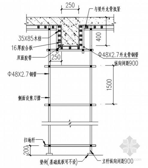 高层商住楼模板专项施工方案(计算书)