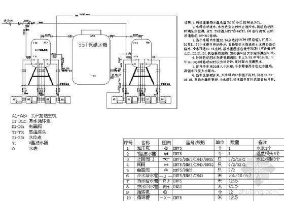 某理工大学热泵热水工程系统图