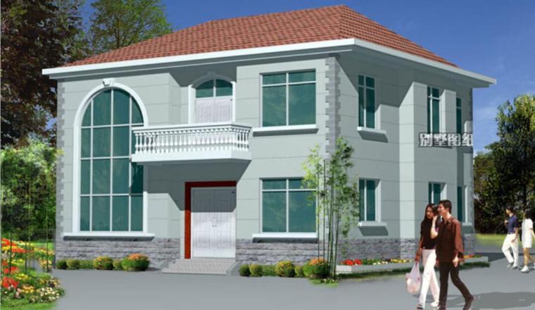 单栋别墅建筑施工图设计PDF+效果图