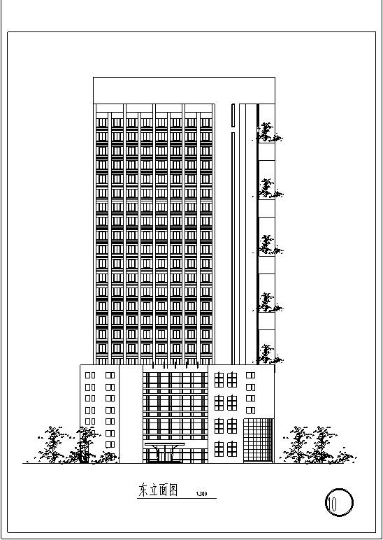 3套现代宾馆酒店建筑设计施工图CAD_8