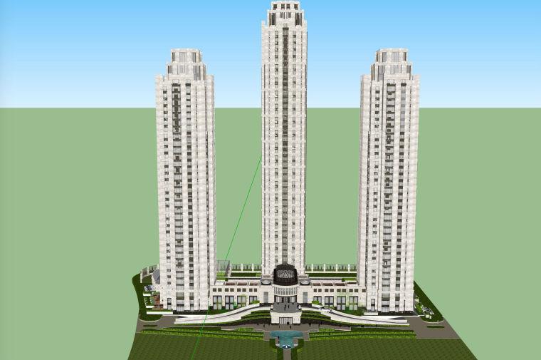 豪华欧式风格酒店公寓建筑设计