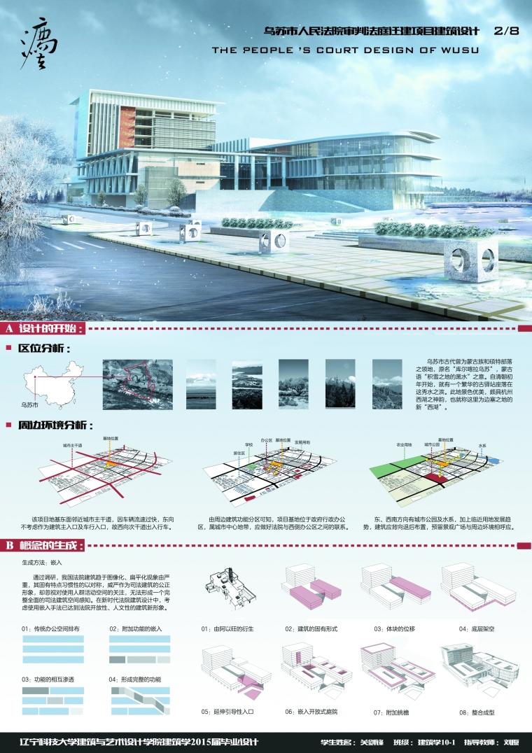 乌苏市人民法院审判法庭迁建项目建筑设计_3