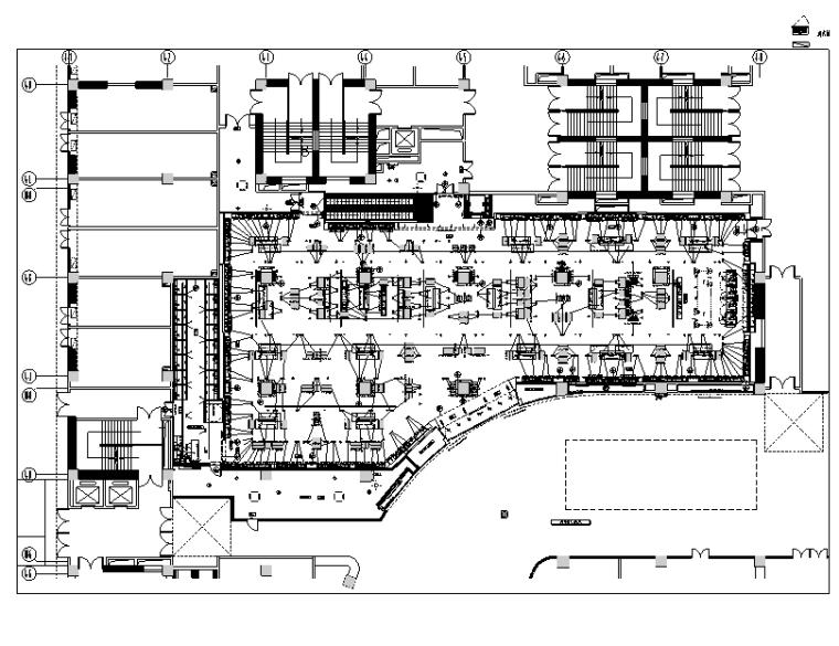 [云南]ZARA爱琴海店装饰设计施工图-一层平面布置图