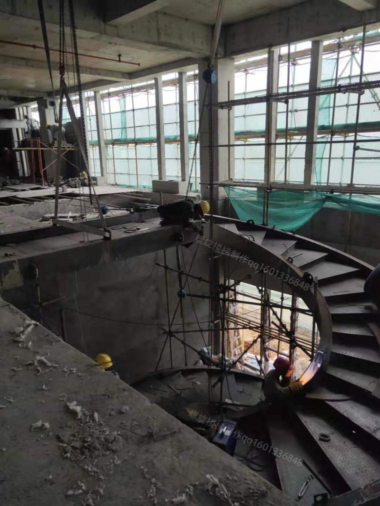 钢结构螺旋楼梯工法