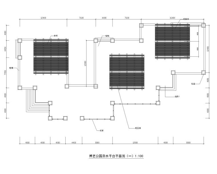 [江西]某滨湖公园景观设计施工图