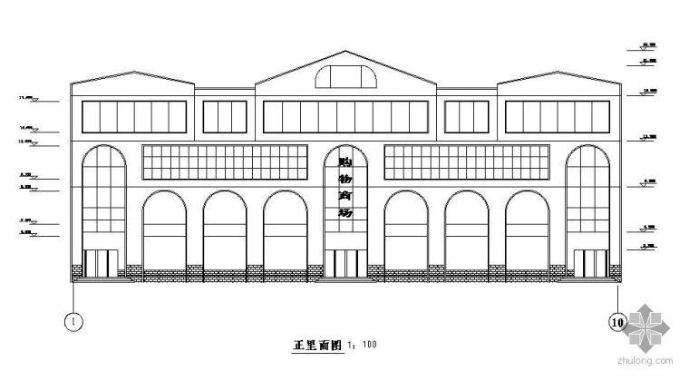 [学士]某四层框架商场毕业设计(含计算书、建筑结构设计图)