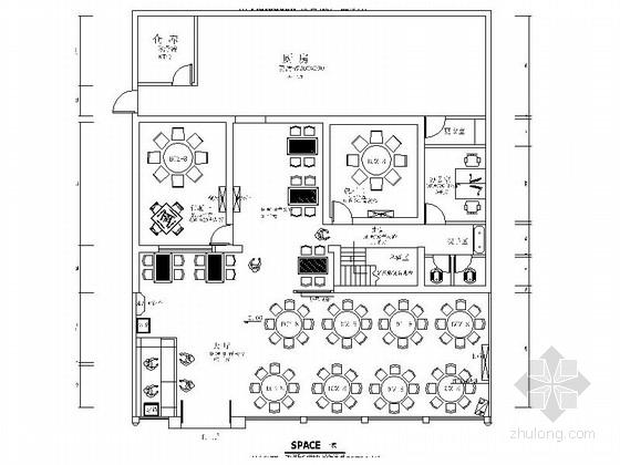 [长沙]某风味餐馆室内装修施工图