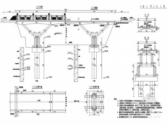 无桥台斜腿刚架桥全套施工图(含预算 结构独特)