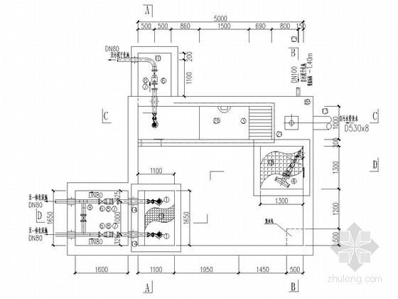 [四川]河渠综合治理工程污水处理设施施工图