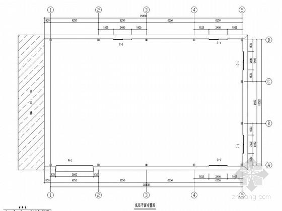 16米跨门式刚架结构样品房结构图