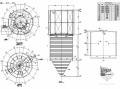 脱硫塔顶棚和楼梯平台钢结构图