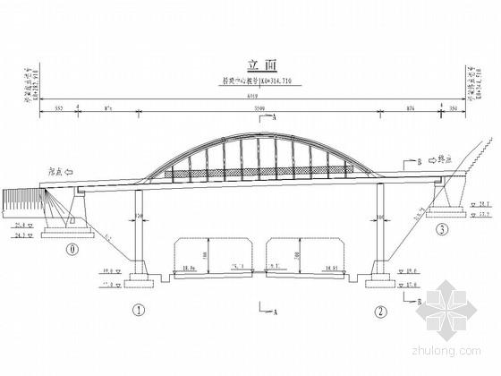 [浙江]高速公路35米人行天桥施工图设计27张