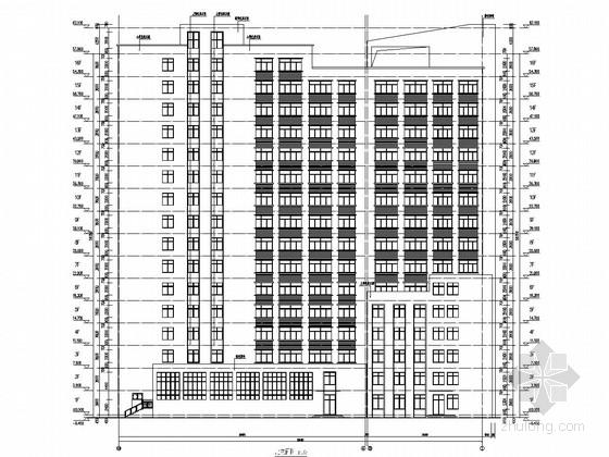 [安徽]16层框架剪力墙结构中学综合楼结构施工图(含建筑图 人防图)