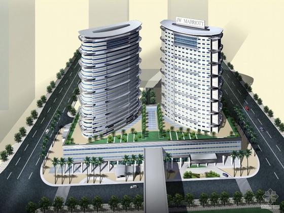[深圳]某星河国际酒店建筑方案文本、模型