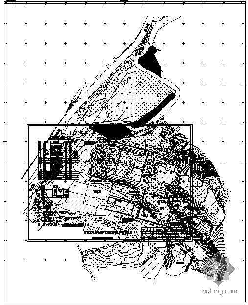 四川某污水处理厂CASS工艺总平面布置图