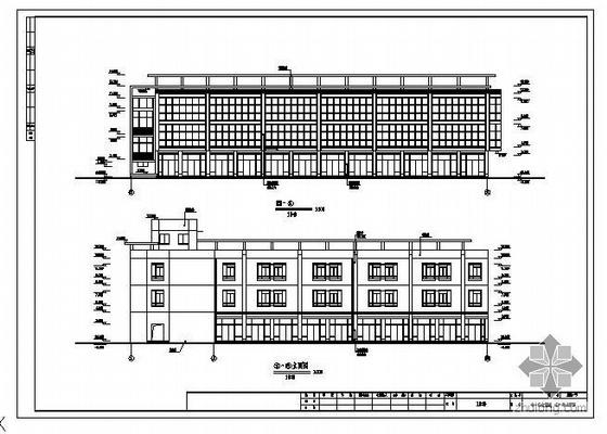 杭州某地下一层停车场建筑结构图