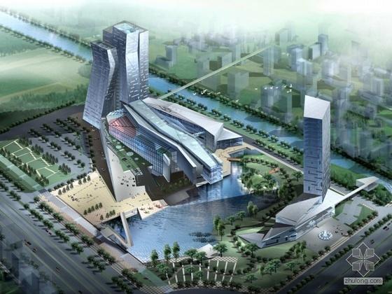 [吉林省]某中心大厦规划建筑方案文本(含效果图)