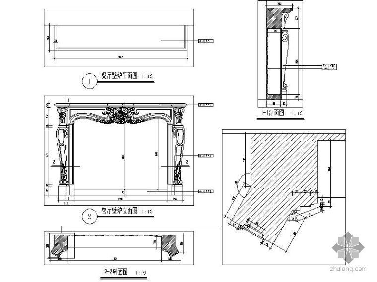欧式餐厅壁炉详图_1