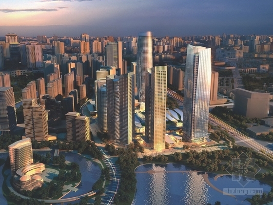 [四川]知名商业区规划及单体设计方案文本(美国知名建筑事务所设计方案)