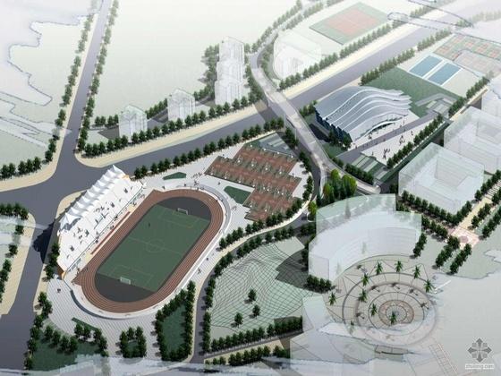 [华南]某大学体育场馆建筑方案文本、多媒体