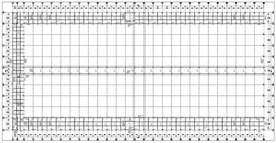 四层框排架主体钢屋盖大型厂房结构施工图(82张)