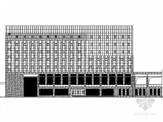 [江苏]某市政八层档案馆建筑施工图(含效果图)