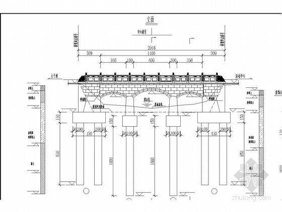 U台施工图资料下载-三孔钢筋混凝土实腹式拱桥施工图23张