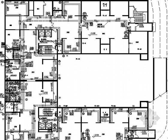 高档人才公寓采暖及防排烟系统设计施工图(含地下车库)