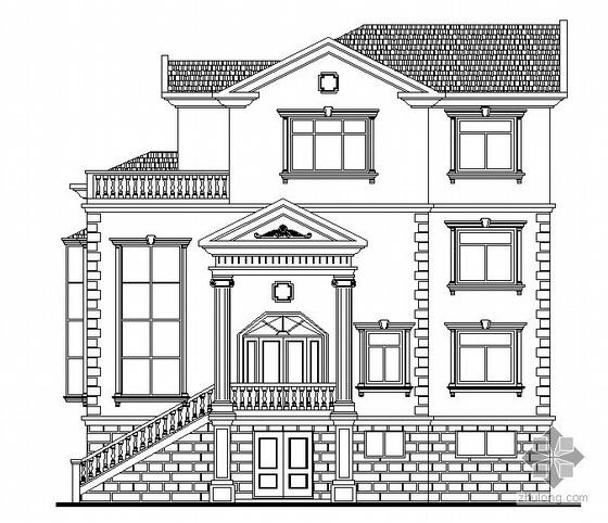某现代欧式四层别墅建筑施工图