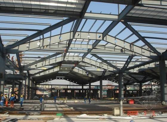 [浙江]展览馆钢框架结构施工技术总结(H型钢结构屋架)