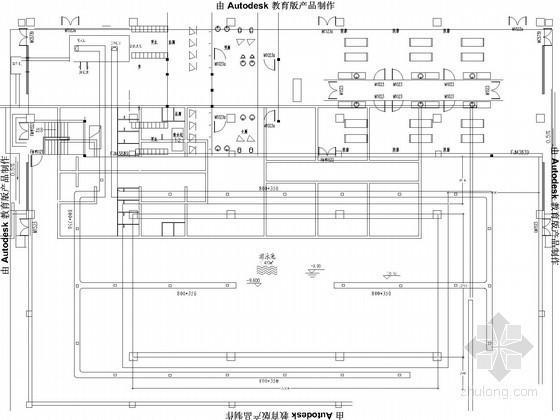[海南]国际会所室内游泳池水处理系统设计图纸