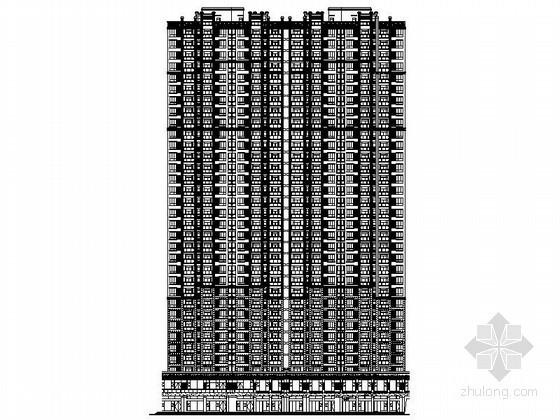 [武汉]某三十三层一梯四户连塔建筑施工图(5号楼)