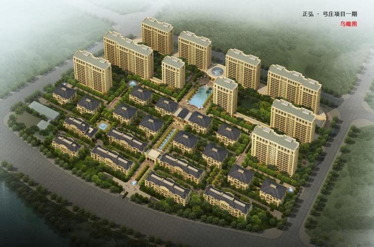 [河南]小高层住宅及联排式别墅建筑设计方案文本