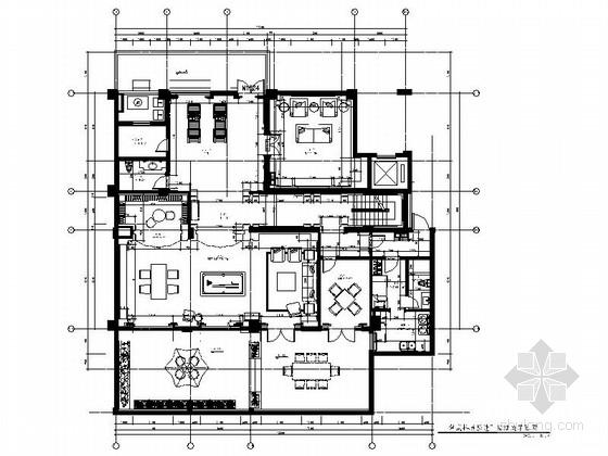 [杭州]欧式复式样板房设计装修图