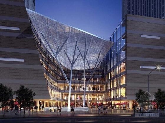 现代风格城市综合体效果图