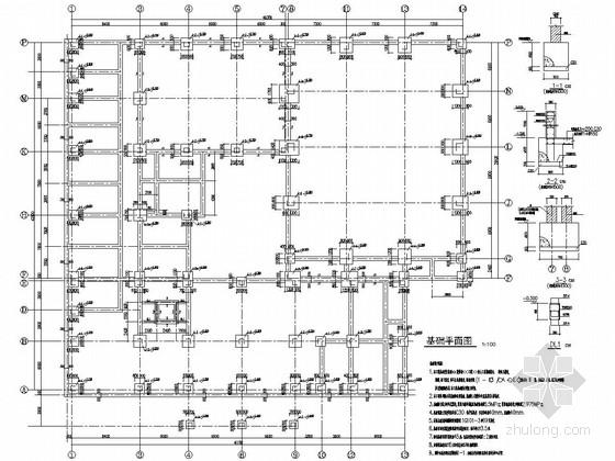 [重庆]地上七层框架结构活动中心结构施工图