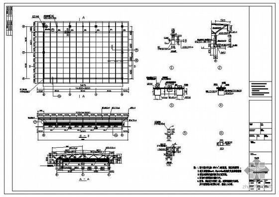 云南某大学食堂屋顶结构屋顶花园结构图