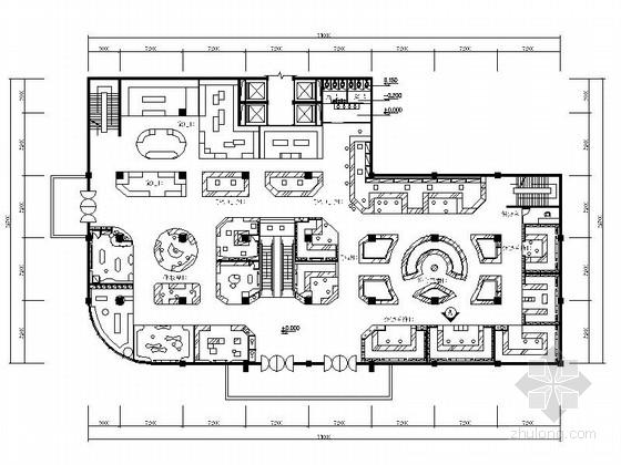 [原创]某时尚大型商场设计CAD施工图(含效果图)