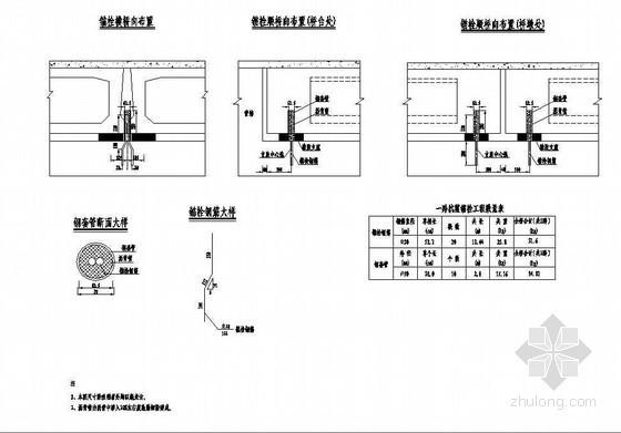2×12米预应力混凝土空心板抗震锚栓构造节点详图设计