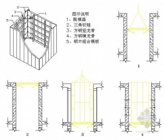 电梯井移动操作平台示意图