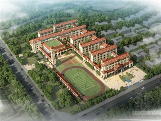 [东莞]西班牙风格小学校园规划设计方案文本