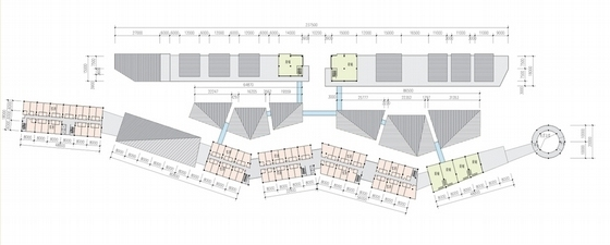 [浙江]现代风格多层旅游交通集散中心规划设计方案文本(两个方案)-现代风格多层旅游交通集散各层平面图