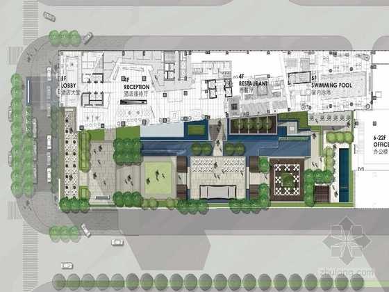 [深圳]现代休闲度假酒店景观规划设计方案