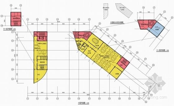 [天津]现代风格帆船状港务大楼建筑设计方案文本-现代风格帆船状港务大楼建筑平面图