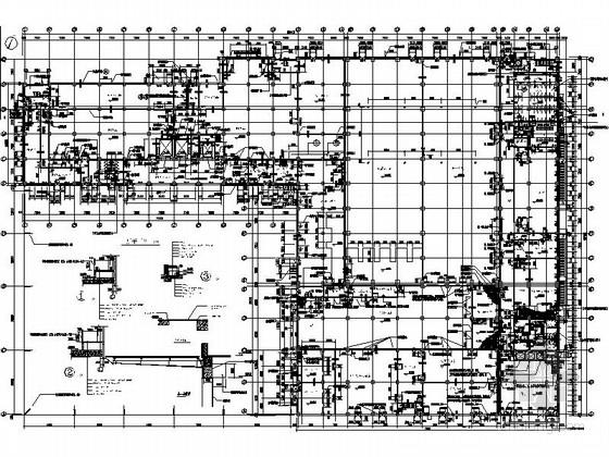 [上海]5层现代风格知名企业辅助厂房设计施工图(图纸精细值得参考)-5层现代风格知名企业辅助厂房首层平面图